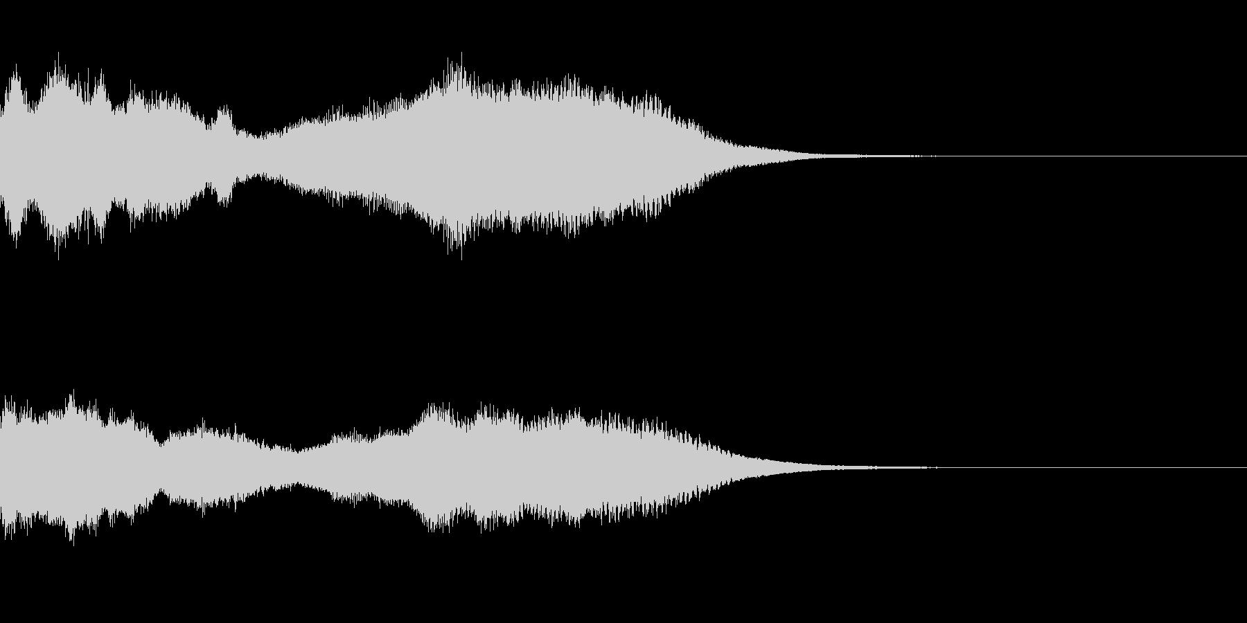 神社 結婚式の笛(笙)フレーズジングル1の未再生の波形