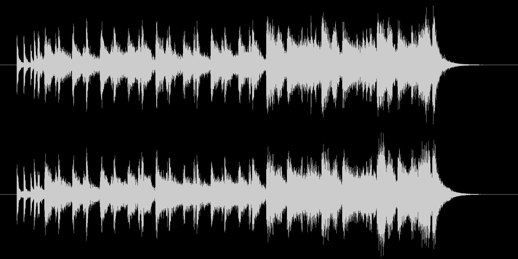 ドラム混じりの明るいシンセサイザーの曲の未再生の波形
