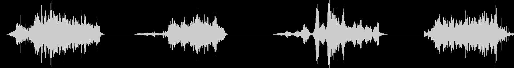 ハンドウッドプレーン:ウッド上の多...の未再生の波形