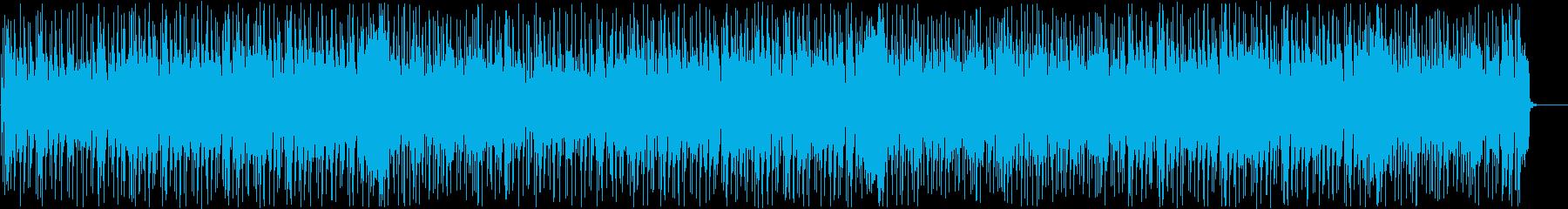 リズミカルで陽気なファンクリズム ブラスの再生済みの波形