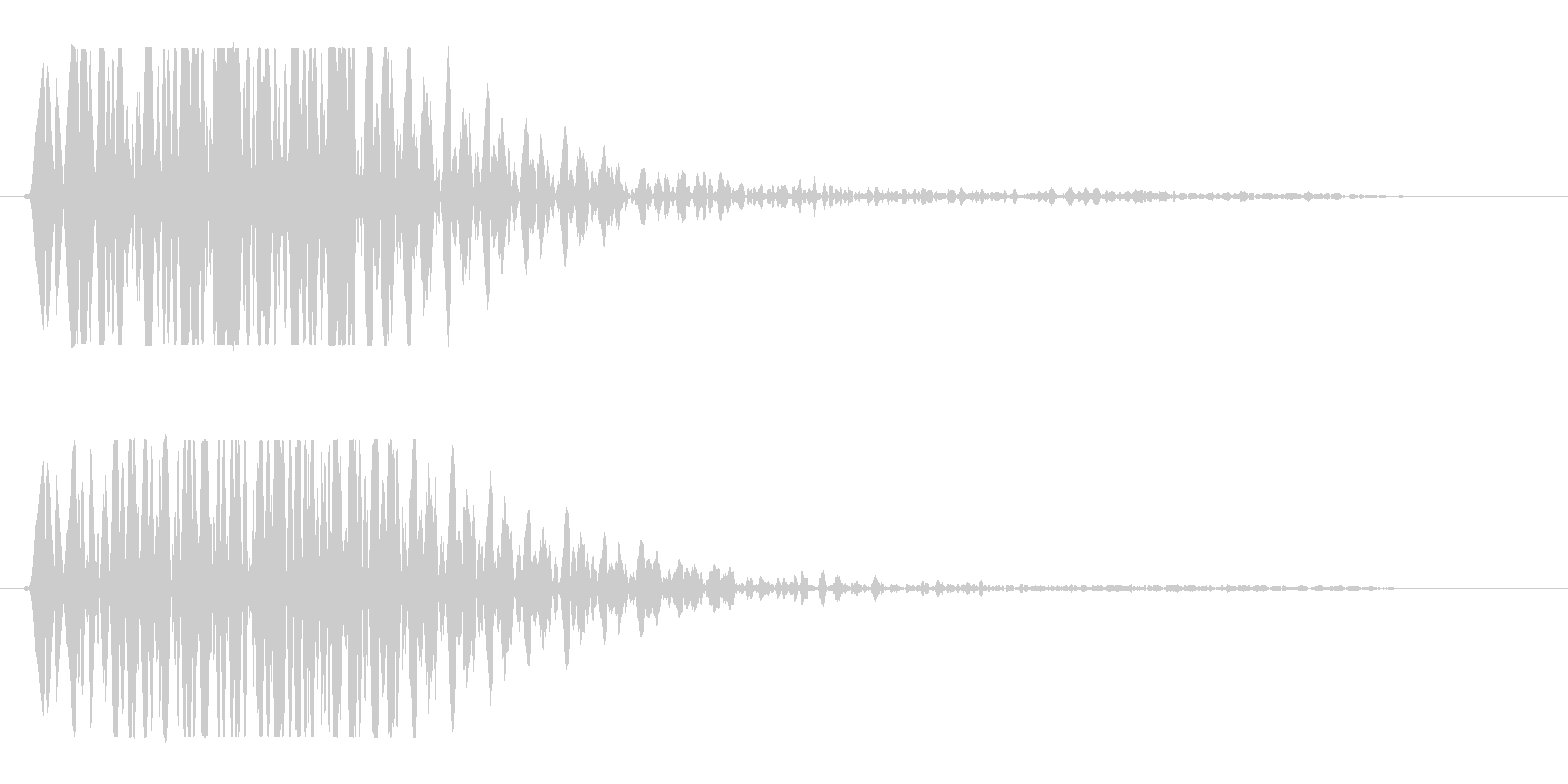 何かに弾かれたような音の未再生の波形