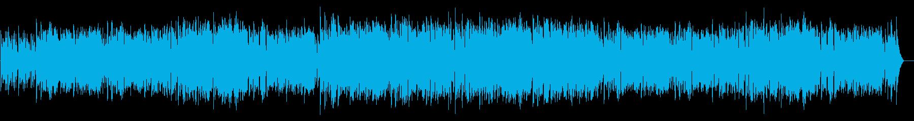 ゆったりボサノバ風BGMの再生済みの波形
