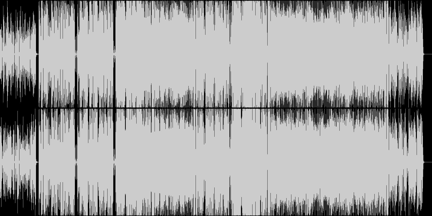 ハッピーなギターポップ、男性英語詞の未再生の波形