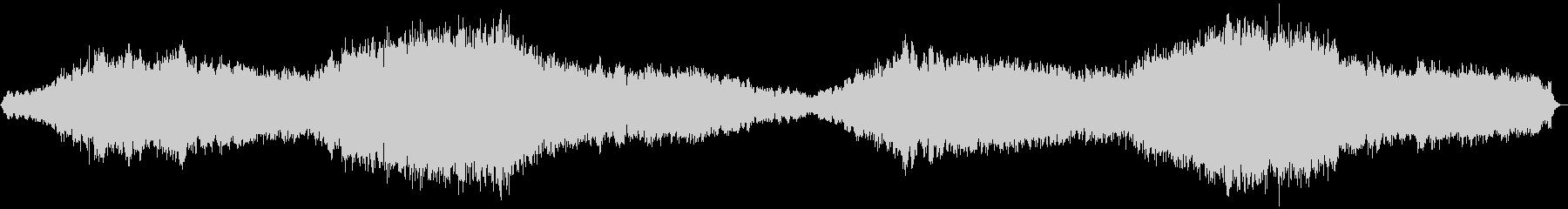 退廃的、滅亡した後の場面に合うBGMの未再生の波形