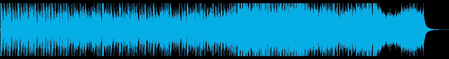 エスニック系打楽器を主とした格闘系の音楽の再生済みの波形