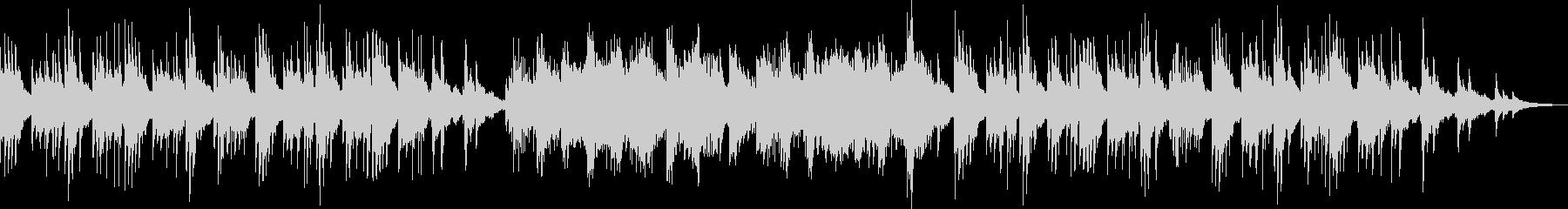 流れ星をイメージしたピアノソロの未再生の波形