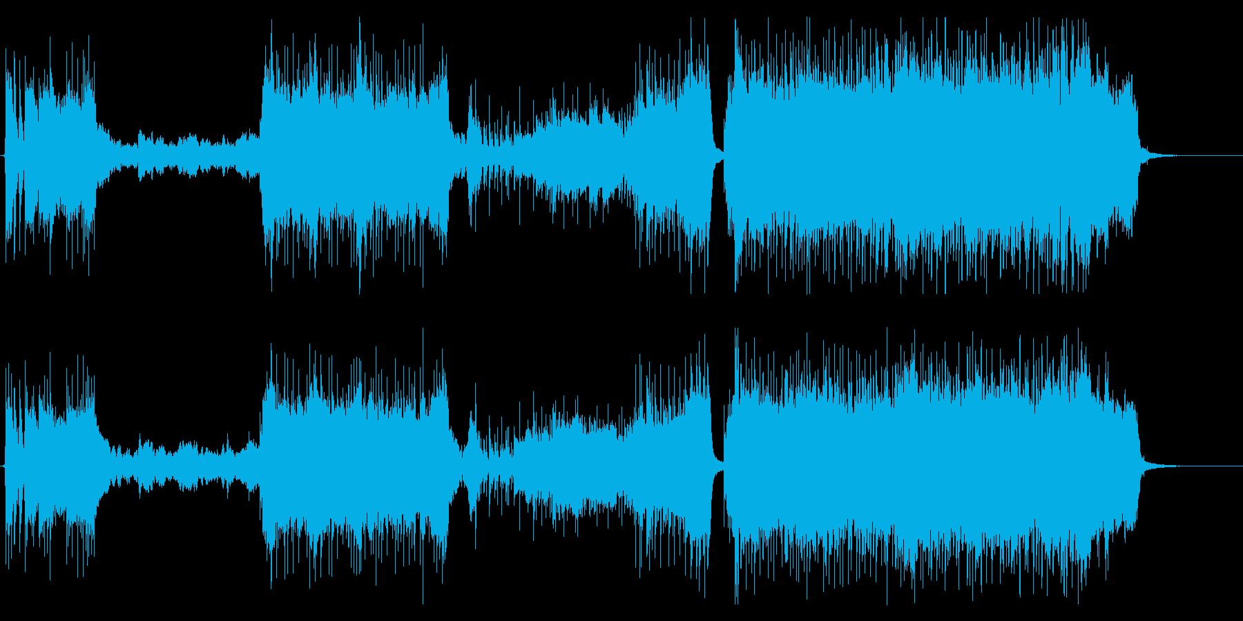 バンド+オーケストラのドラマチックな曲の再生済みの波形