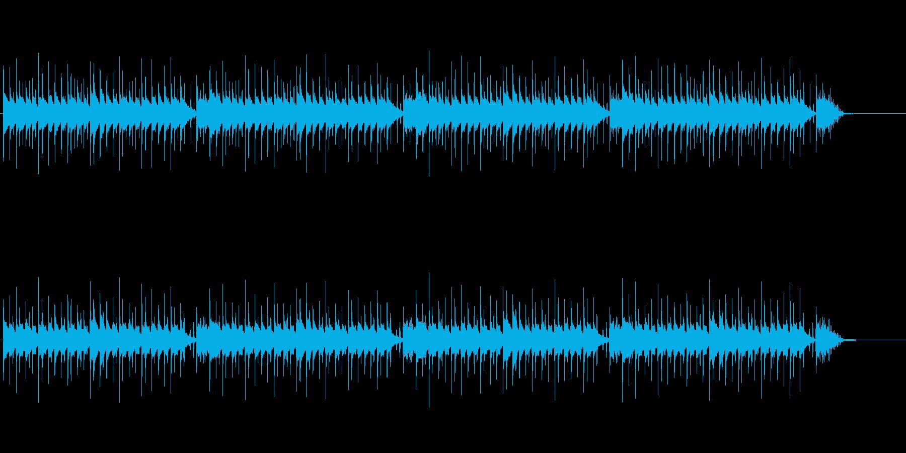 マリンバの軽快で楽しいBGMループの再生済みの波形