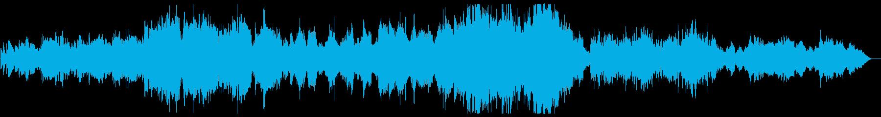 美しい滑らかなピアノの曲の再生済みの波形