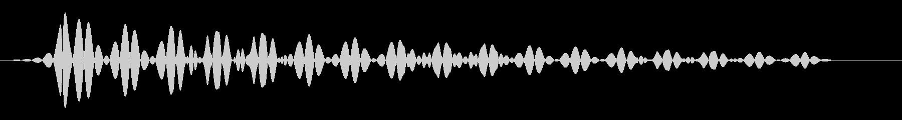 シンプルなキャンセル音の未再生の波形