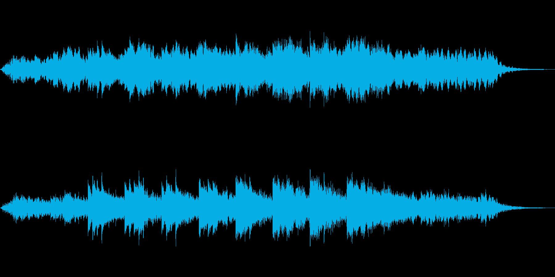 じっとりとしたホラー ピアノの再生済みの波形