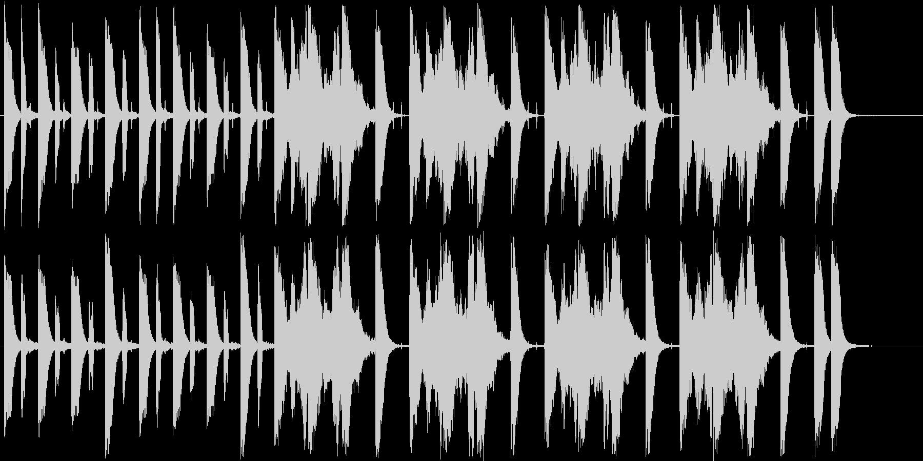 ファンタジーなシンセ短めサウンドの未再生の波形