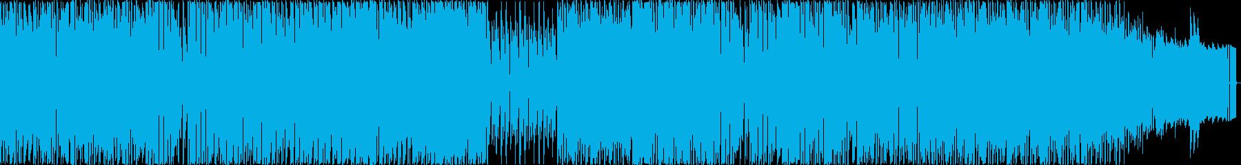 甘く優しいメロディーと4つ打ちリズムの再生済みの波形