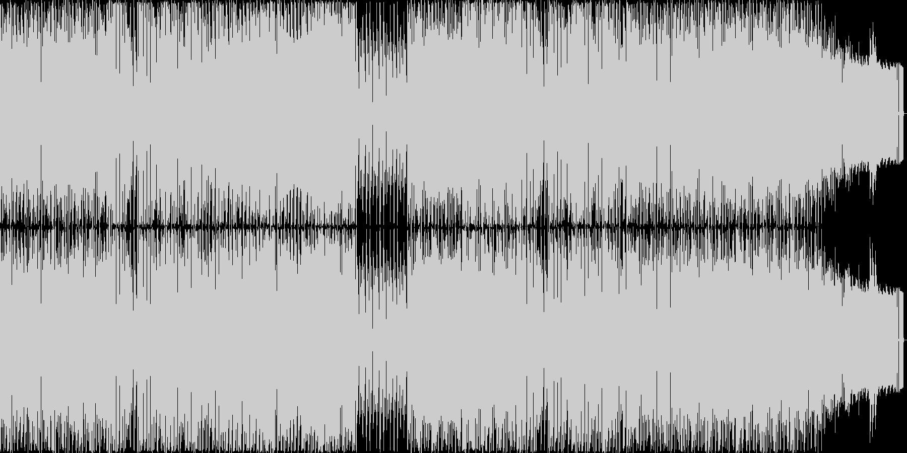 甘く優しいメロディーと4つ打ちリズムの未再生の波形