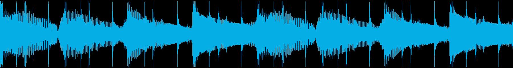 軽快なドラムを備えたのんびりした、...の再生済みの波形