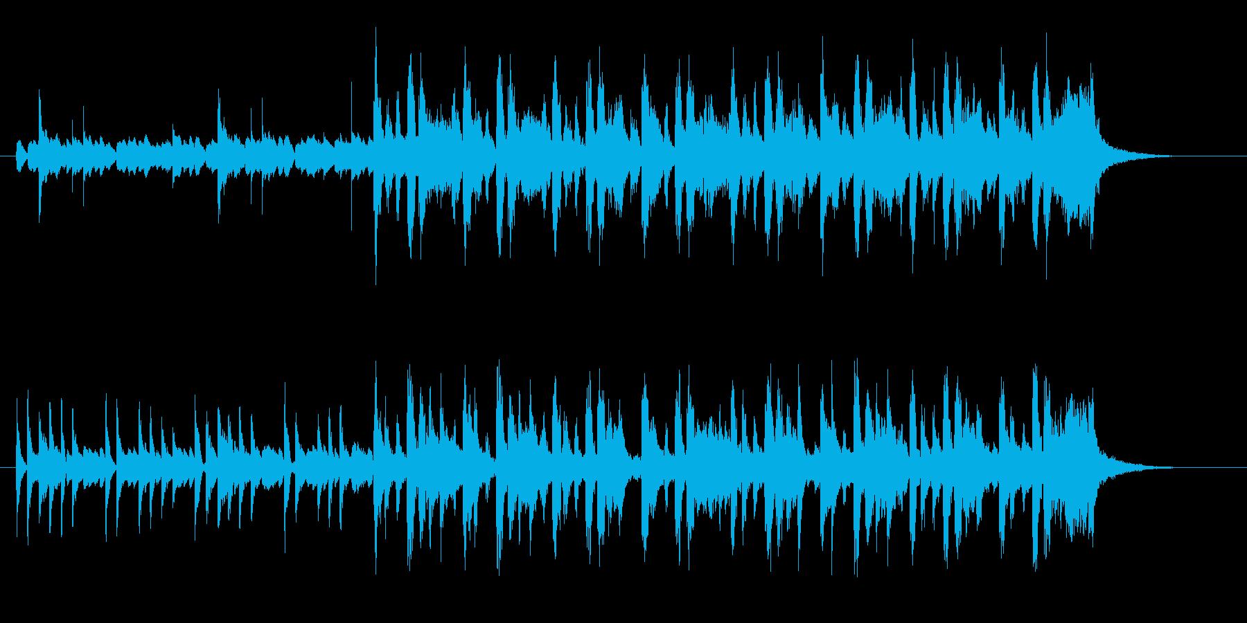 ゆったりとかわいらしい音楽の再生済みの波形