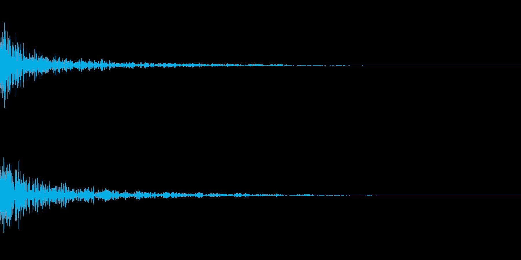 ドーン-38-1(インパクト音)の再生済みの波形