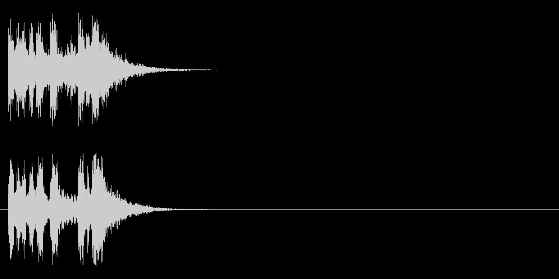 ジングル/オーケストラ(ドキュメント風)の未再生の波形
