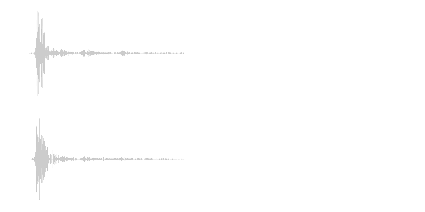 歯切れの良いカッという効果音の未再生の波形