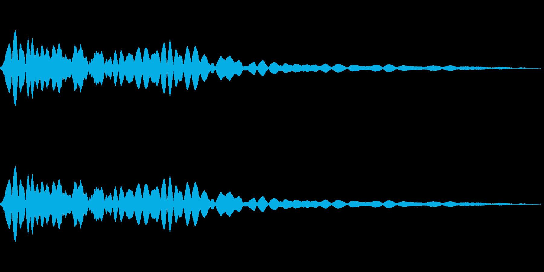 ピュゥゥゥゥ(落ちる・下がる)の再生済みの波形