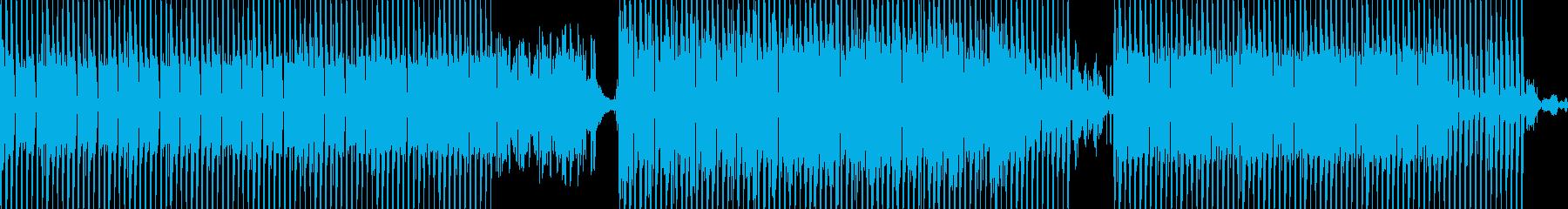未来的テクノミュージックの再生済みの波形