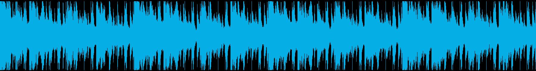 コード進行のエレクトロニカBGMループの再生済みの波形