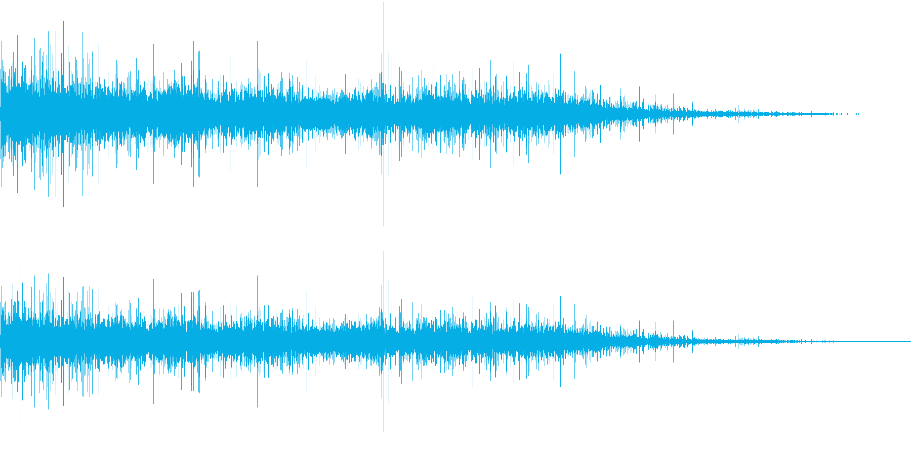 【生録音】ジューっと食材が焼ける音 4の再生済みの波形