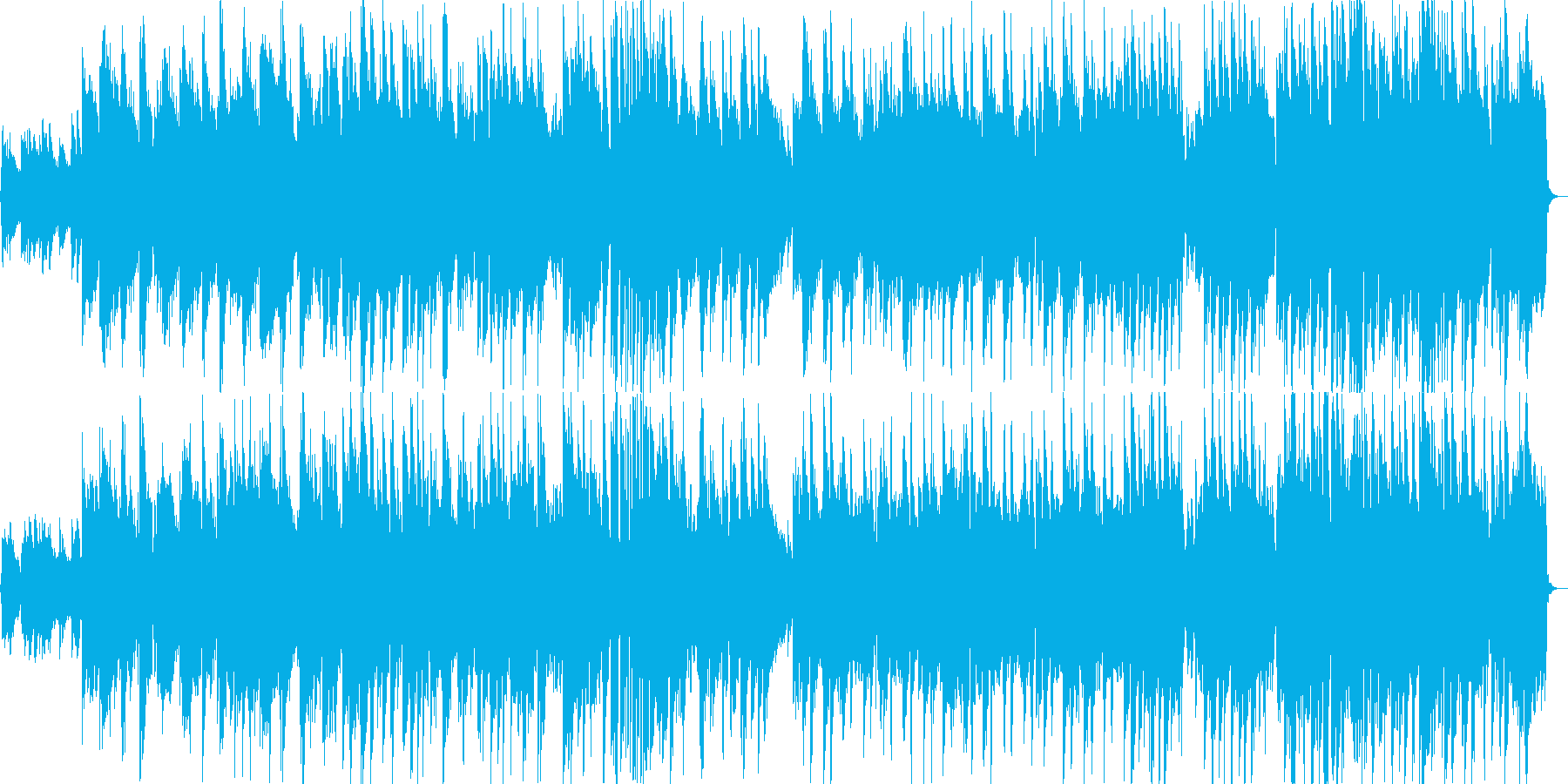 フルートの旋律による明るい雰囲気の曲の再生済みの波形