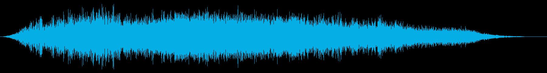 ホラー空間変換の再生済みの波形