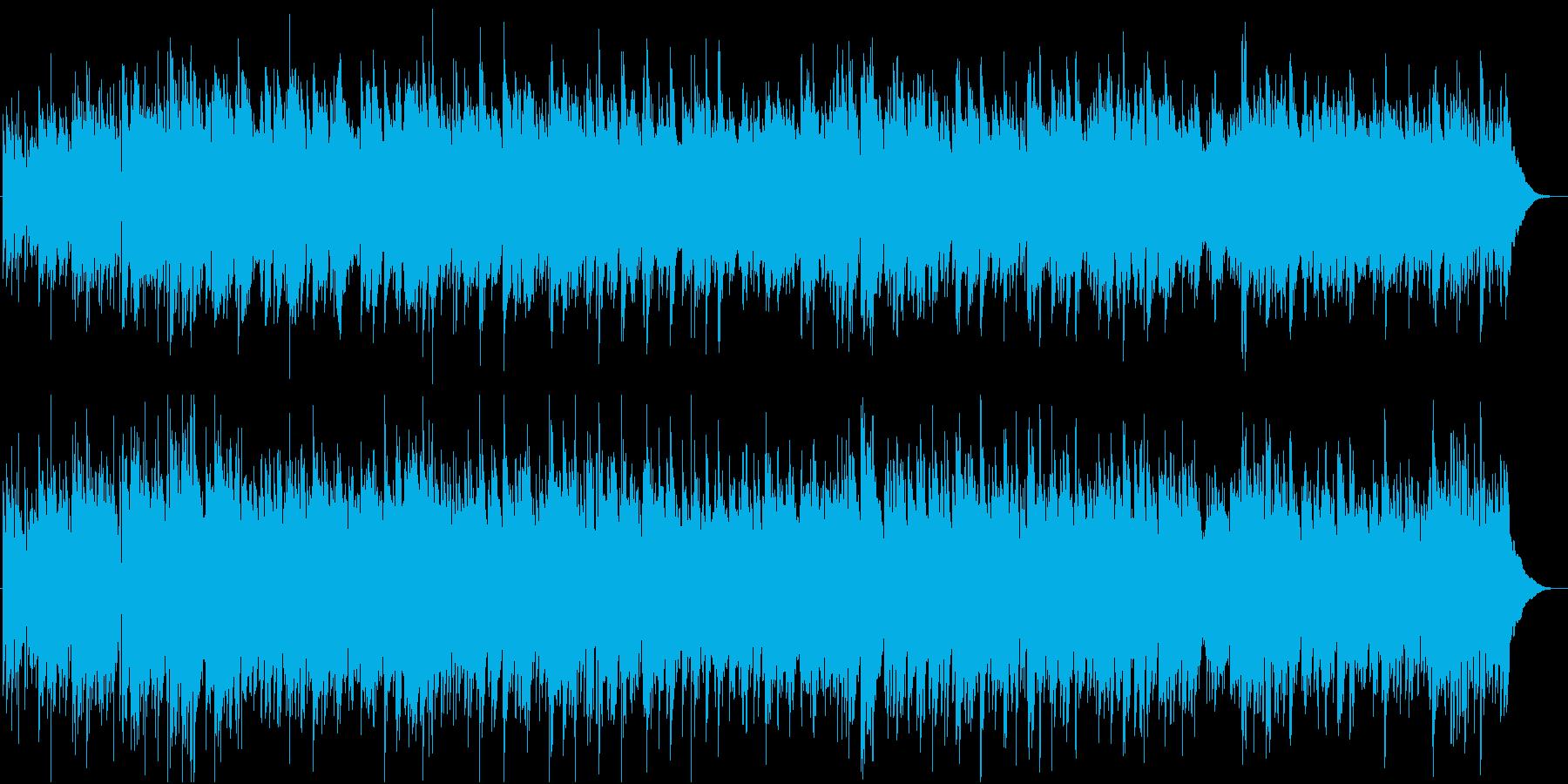 明るく楽しい音色のアコースティックの再生済みの波形
