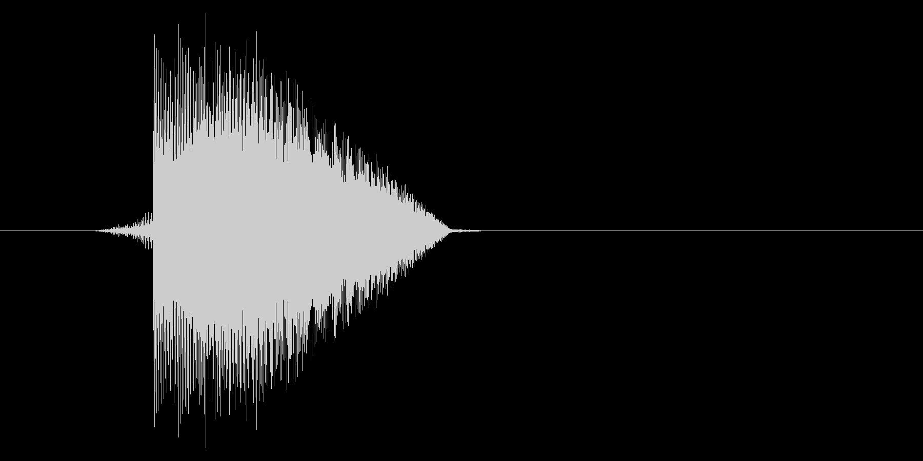 ゲーム(ファミコン風)ジャンプ音_034の未再生の波形