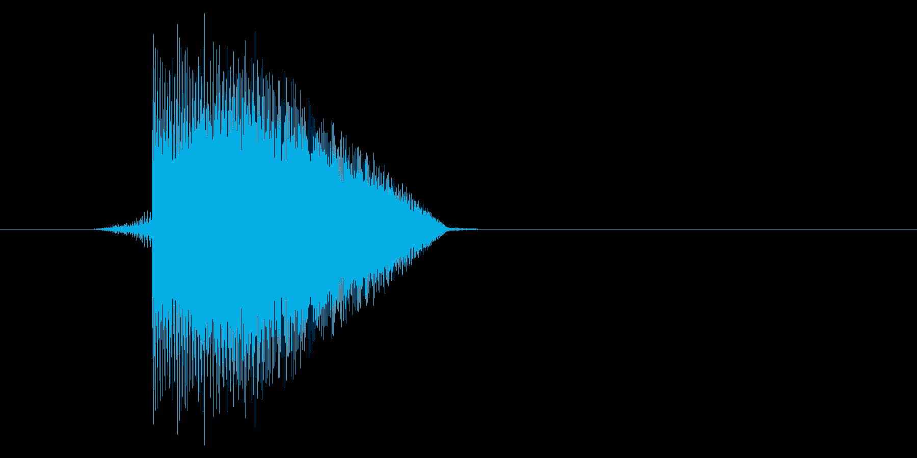 ゲーム(ファミコン風)ジャンプ音_034の再生済みの波形