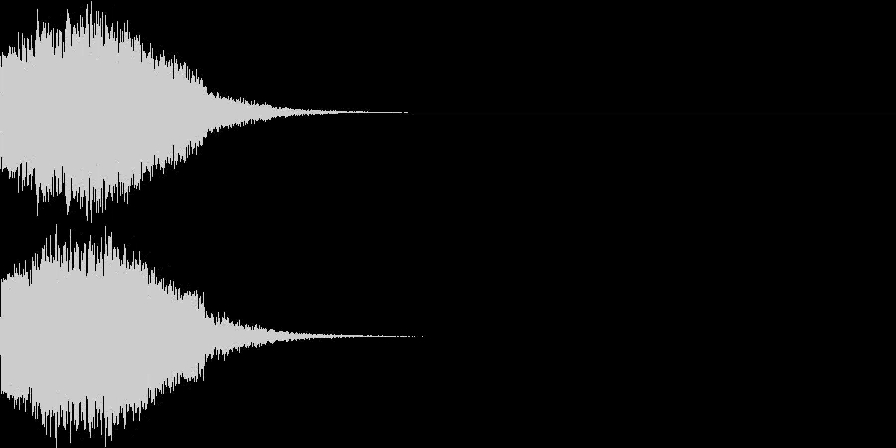ギュイーン 重め ギューン 光る 016の未再生の波形