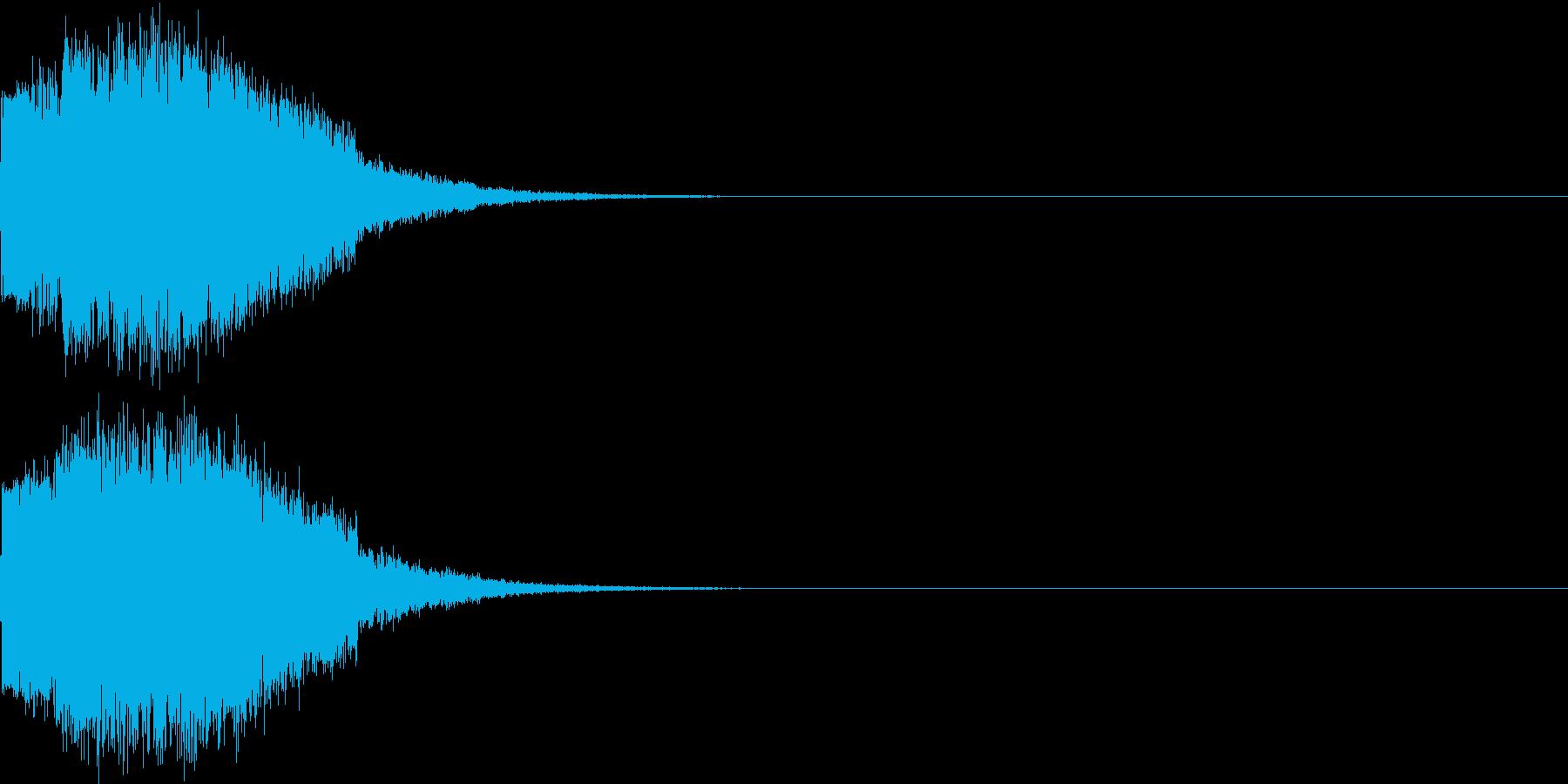 ギュイーン 重め ギューン 光る 016の再生済みの波形