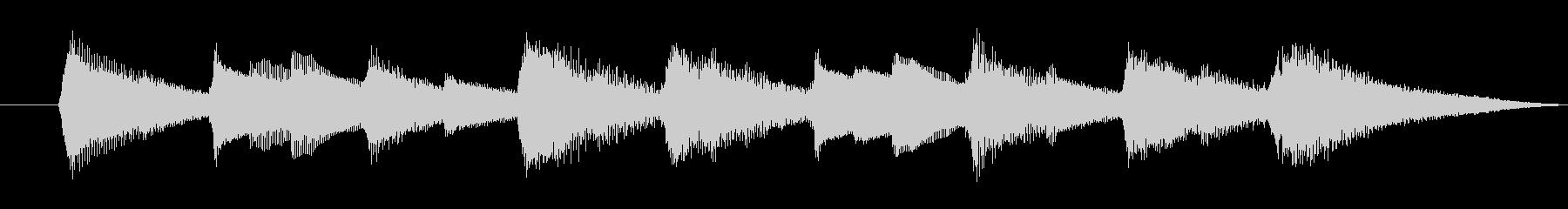 ジングル 綺麗なオルゴールの音色の未再生の波形