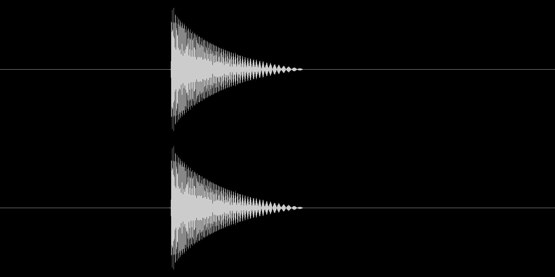 ファミコン風_ピュン_弾を打つ音7の未再生の波形