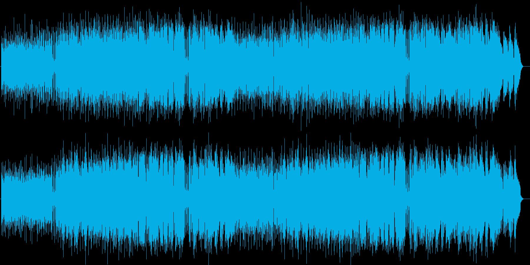 明るく爽やかなシンセギターサウンドの再生済みの波形