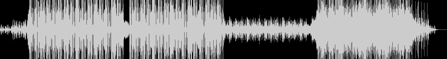 いいテンポ感のテクノBGMの未再生の波形