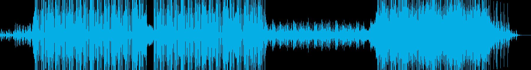 いいテンポ感のテクノBGMの再生済みの波形