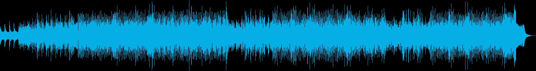 ノリがよくかっこいい尺八の和風ハウスの再生済みの波形