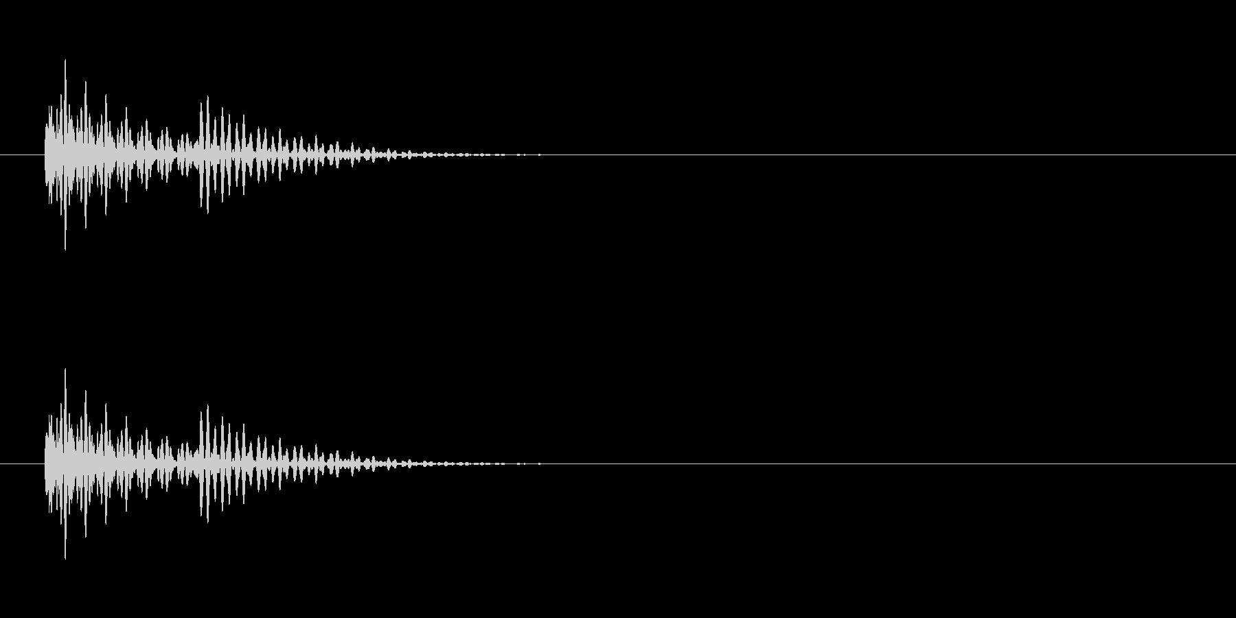 エラー音。の未再生の波形
