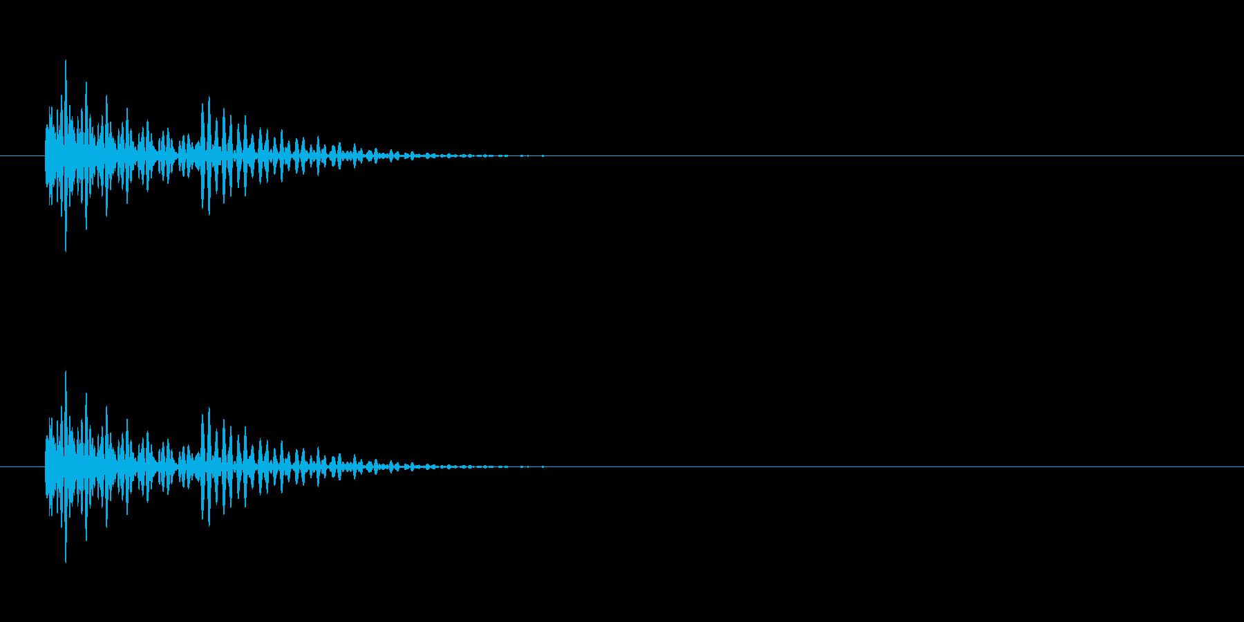 エラー音。の再生済みの波形