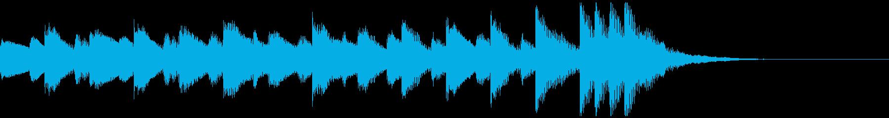 ほのぼのあふれる可愛い曲調です。の再生済みの波形