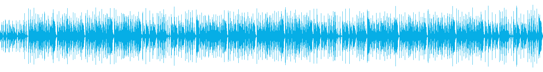 ほのぼの日常系のインストBGMの再生済みの波形