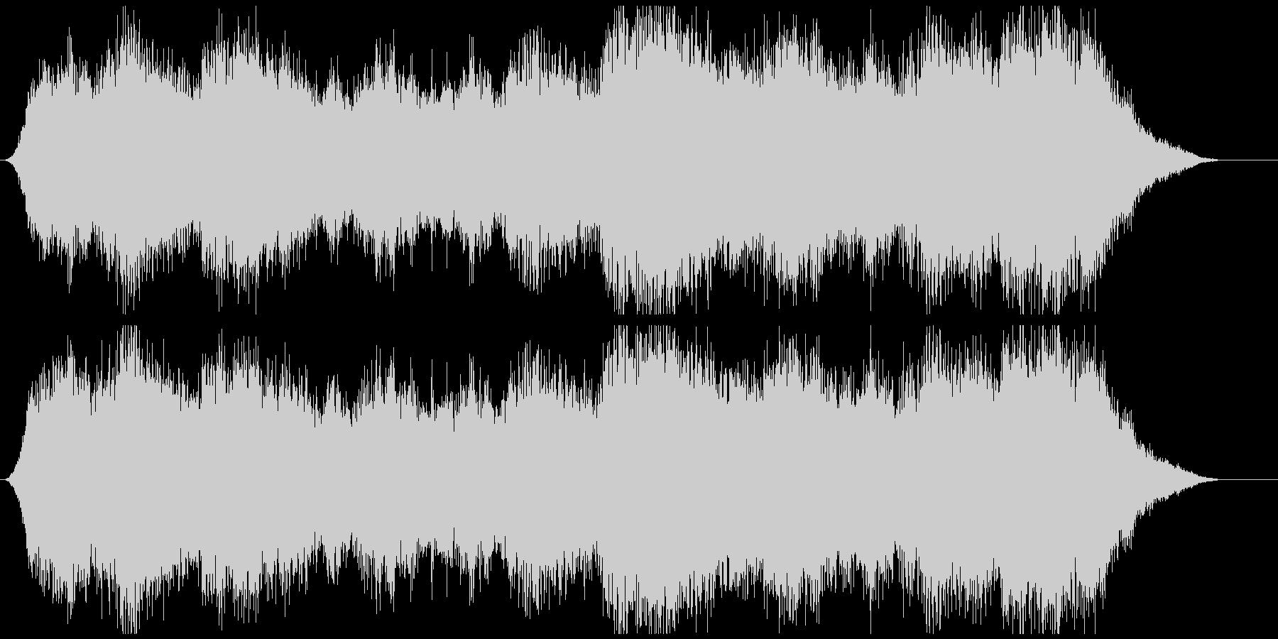サスペンス映画の犯罪の場面の音楽の未再生の波形