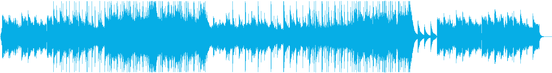 切ないノベルゲームの日常パートBGM風の再生済みの波形