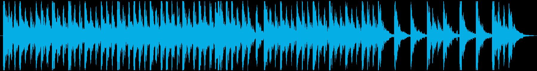 ホラー風味で不気味なオルゴールの再生済みの波形