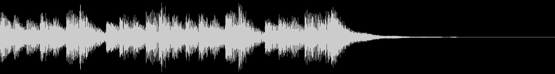 着信音 シンプルなマリンバの未再生の波形