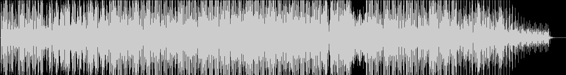 ザラザラした雰囲気の機械的ミュージックの未再生の波形