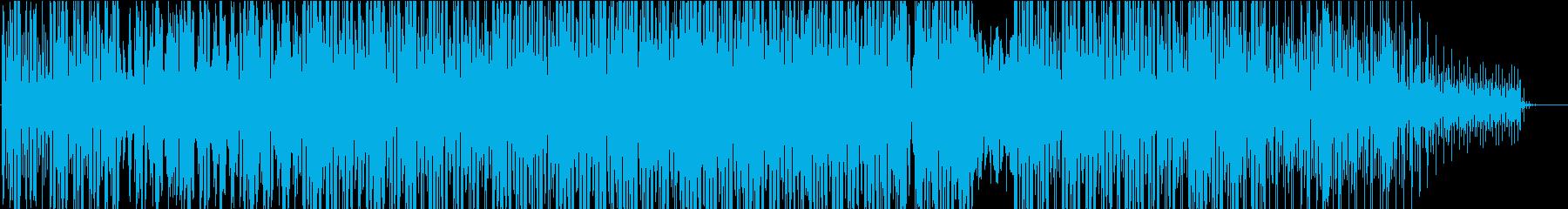 ザラザラした雰囲気の機械的ミュージックの再生済みの波形